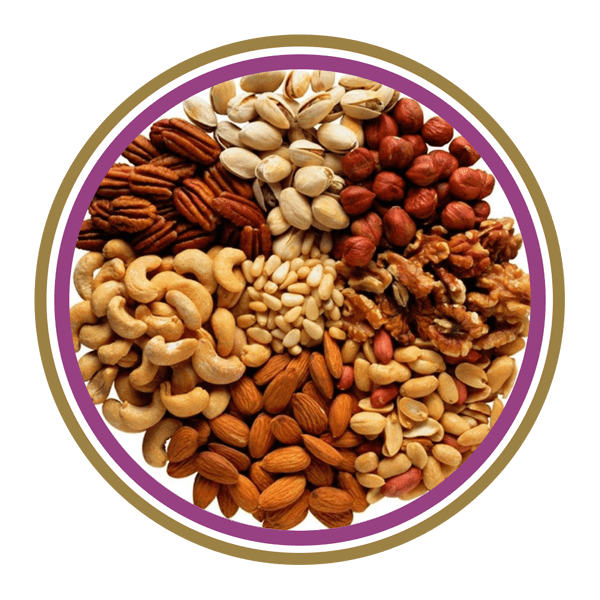 Types of nuts and almonds